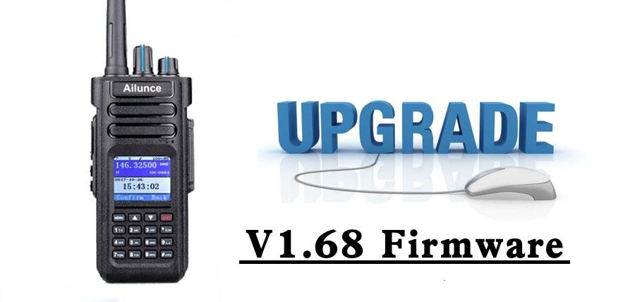 Ailunce HD1 Firmware Version 1.68 sowohl für GPS als auch nicht GPS-Version.